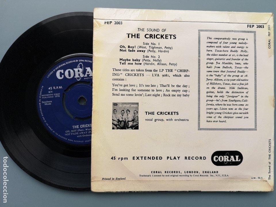 Discos de vinilo: EP BUDDY HOLLY THE SOUND OF CRICKETS 1ª ED INGLESA 1958 FEP 2003 CORAL RECORDS COCHRAN ELVIS VINCENT - Foto 2 - 181545651