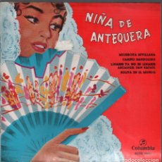 Discos de vinilo: NIÑA DE ANTEQUERA - MUJERCITA SEVILLANA/ CARIÑO BANDOLERO , ARCANGEL SAN RAFAEL / EP COLUMBIA. Lote 181550902