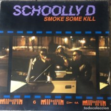 Discos de vinilo: SCHOOLLY D - SMOKE SOME KILL . LP . 1988 GERMANY. Lote 181560983