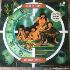 Discos de vinilo: BOMB THE BASS - UNKNOWN TERRITORY . LP . 1991 UK . Lote 181564093