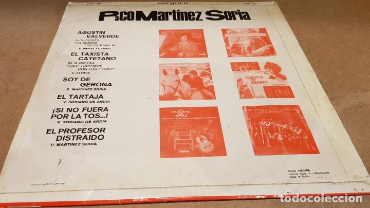 Discos de vinilo: PACO MARTÍNEZ SORIA / LP - VERGARA-1966 / MBC. ***/*** - Foto 2 - 181566162
