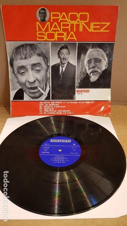 PACO MARTÍNEZ SORIA / LP - VERGARA-1966 / MBC. ***/*** (Música - Discos - LP Vinilo - Otros estilos)