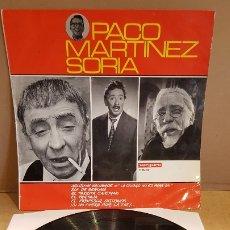Discos de vinilo: PACO MARTÍNEZ SORIA / LP - VERGARA-1966 / MBC. ***/***. Lote 181566162