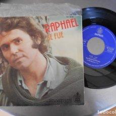 Discos de vinilo: RAPHAEL-SINGLE COMO YO TE AMO. Lote 269836768