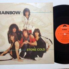 Discos de vinilo: MAXI SINGLE VINILO 12'' RAINBOW STONE COLD EDICIÓN ORIGINAL INGLESA DE 1982. Lote 181572746