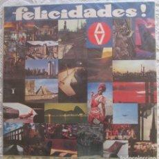 Discos de vinilo: DISCO PROMOCIONAL DE AVIANCA LÍNEAS AÉREAS DE COLOMBIA. FELICIDADES.. Lote 181576121