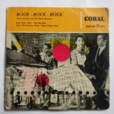 Discos de vinilo: JIMMY CAVELLO AND HIS HOUSE ROCKERS - EP SPAIN PS - ROCK, ROCK, ROCK - CORAL 195? * CON TRICENTER. Lote 181580488