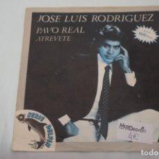 Discos de vinilo: SINGLE - JOSE LUIS RODRIGUEZ EL PUMA / PAVO REAL, ATREVETE / SERIE DELFIN. Lote 181592237
