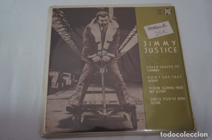 SINGLE - JIMMY JUSTICE / GREEN LEAVES OF SUMMER, DONT SAY THAT AGAIN / PYEP 2054 (Música - Discos - Singles Vinilo - Otros estilos)