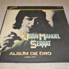 Discos de vinilo: JOAN MANUEL SERRAT ALBUM DE ORO 4 LP'S 1981. Lote 181618025