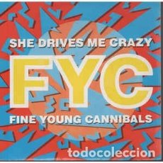 Discos de vinilo: FINE YOUNG CANNIBALS - SHE DRIVES ME CRAZY (12, MAXI) LABEL:LONDON RECORDS CAT#: 886 361-1 . Lote 181620491