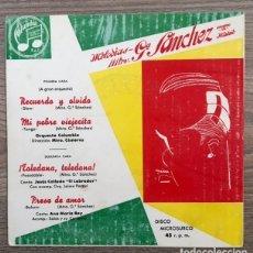 Discos de vinilo: MELODÍAS DEL MAESTRO GARCÍA SÁNCHEZ - 1959. Lote 181621817
