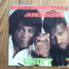 Discos de vinilo: AFRIKA BAMBAATAA & THE GODFATHER OF SOUL JAMES BROWN - UNITY. Lote 181700937