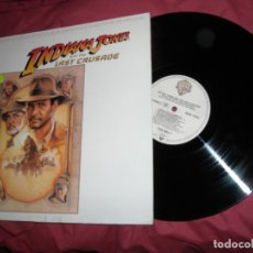 Discos de vinilo: INDIANA JONES AND THE LAST CRUSADE DE SPIELBERG LP BANDA SONORA ORIGINAL MUSICA JOHN WILLIAMS GER. Lote 181703766