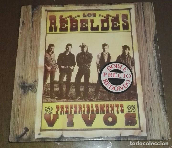 Discos de vinilo: LOS REBELDES PREFERIBLEMENTE VIVOS 2 LP - Foto 2 - 194516185