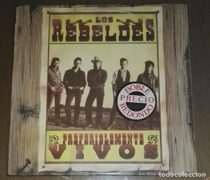 LOS REBELDES PREFERIBLEMENTE VIVOS 2 LP (Música - Discos - LP Vinilo - Grupos Españoles de los 90 a la actualidad)