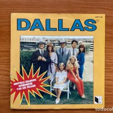 Discos de vinilo: DALLAS // LES TEXANS // BSO DALLAS // J.R. BLUES + DALLAS VILLE CHIMERE // EDICIÓN FRANCIA 1981. Lote 181743235