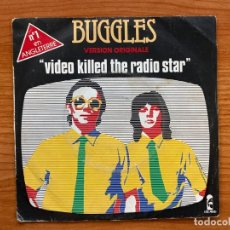 Discos de vinilo: BUGGLES // VIDEO KILLED THE RADIO STAR // 1979. FRANCIA. Lote 181747832