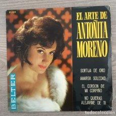 Discos de vinilo: ANTOÑITA MORENO - SORTIJA DE ORO - 1965 . Lote 181767470