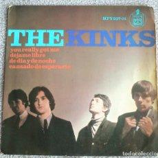 Discos de vinilo: THE KINKS - YOU REALLY GOT ME + 3 - AÑO 1965 - HISPAVOX - ESPAÑA. Lote 181779560