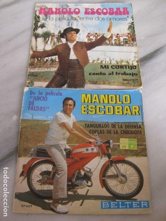 Discos de vinilo: Lote de 11 discos Singles. Manolo Escobar. - Foto 2 - 181789176