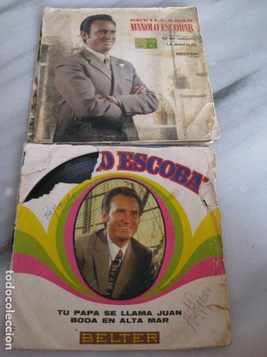 Discos de vinilo: Lote de 11 discos Singles. Manolo Escobar. - Foto 3 - 181789176