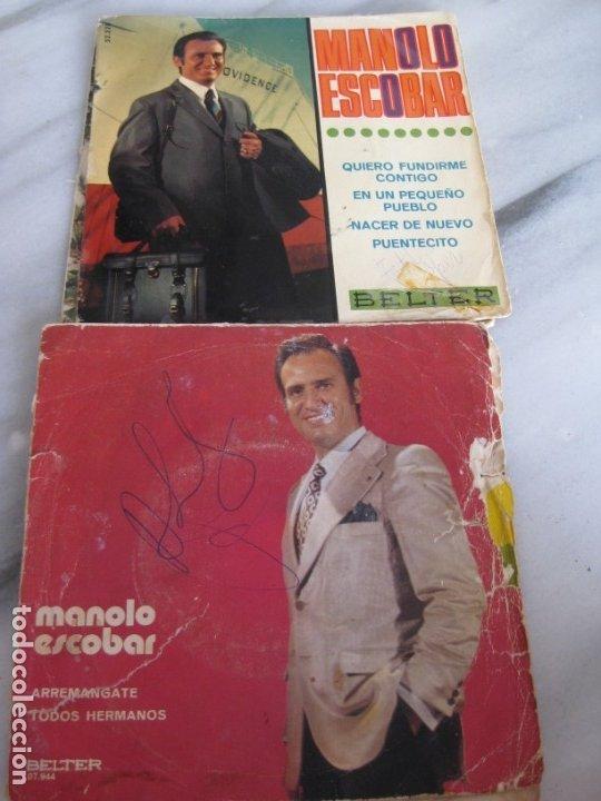 Discos de vinilo: Lote de 11 discos Singles. Manolo Escobar. - Foto 4 - 181789176