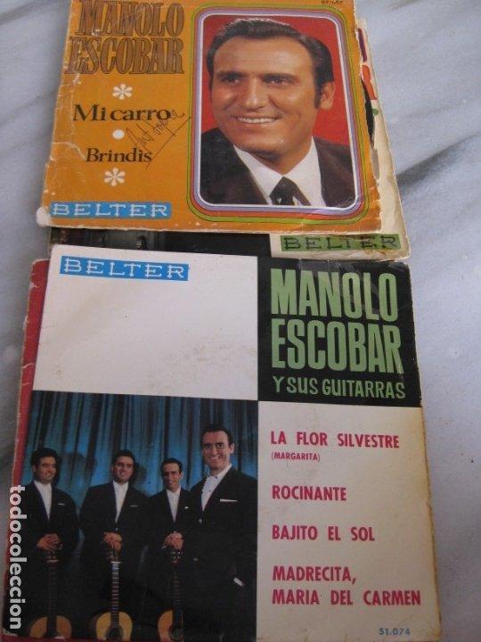 Discos de vinilo: Lote de 11 discos Singles. Manolo Escobar. - Foto 5 - 181789176