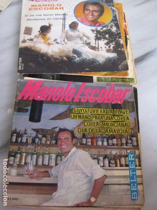 Discos de vinilo: Lote de 11 discos Singles. Manolo Escobar. - Foto 6 - 181789176