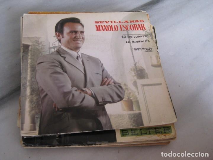 Discos de vinilo: Lote de 11 discos Singles. Manolo Escobar. - Foto 7 - 181789176