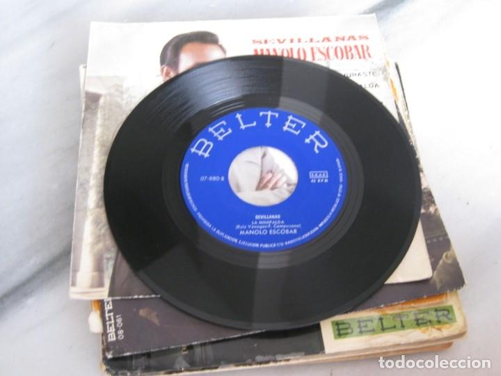 Discos de vinilo: Lote de 11 discos Singles. Manolo Escobar. - Foto 8 - 181789176