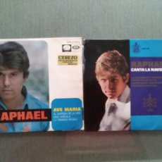 Discos de vinilo: LOTE 2 SINGLES RAPHAEL. Lote 181790328