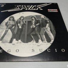 Discos de vinilo: SHOCK - JUEGO SUCIO. LP VINILO 1986 - SPANISH HEAVY METAL. Lote 181792663