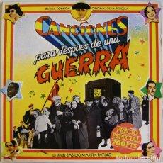 Discos de vinilo: CANCIONES PARA DESPUÉS DE UNA GUERRA, - BANDA SONORA DE LA PELÍCULA - DOBLE LP ENCARTES COMPLETO. Lote 181794302