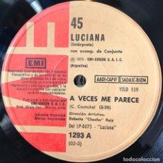 Discos de vinilo: SENCILLO ARGENTINO DE LUCIANA AÑO 1975. Lote 122149147