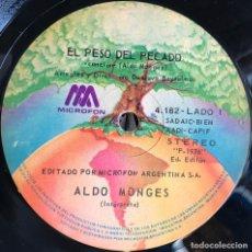 Discos de vinilo: SENCILLO ARGENTINO DE ALDO MONGES AÑO 1976. Lote 57222698