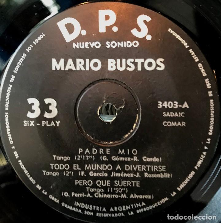Discos de vinilo: EP argentino de Mario Bustos año 1963 - Foto 2 - 57265986