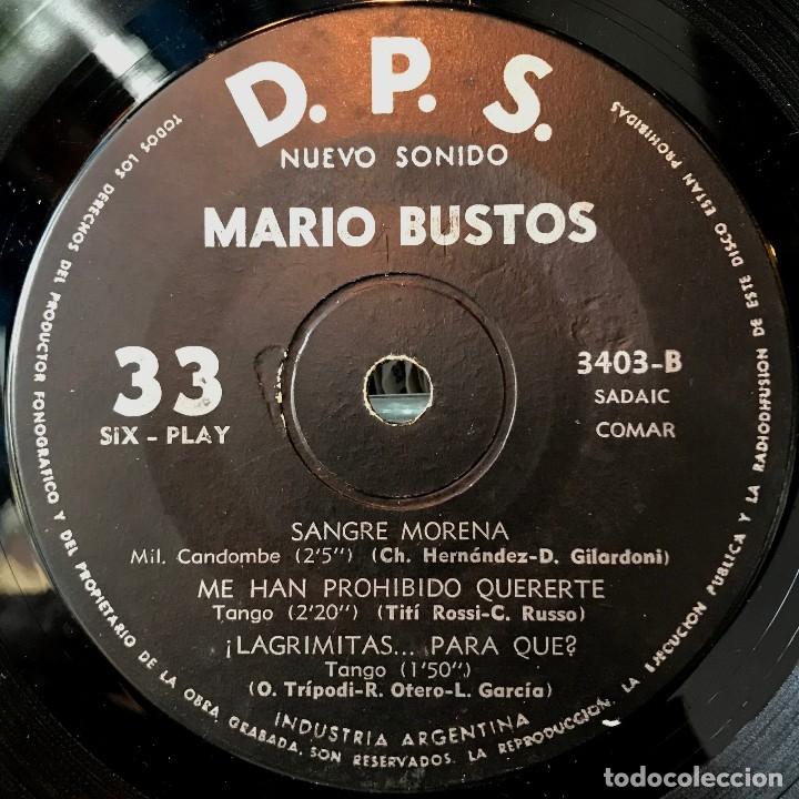 Discos de vinilo: EP argentino de Mario Bustos año 1963 - Foto 3 - 57265986