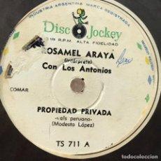 Discos de vinilo: DOS SENCILLOS ARGENTINOS DE ROSAMEL ARAYA. Lote 57278383