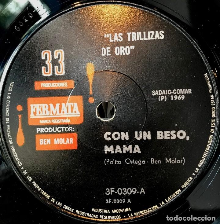 Discos de vinilo: Sencillo argentino de Las Trillizas de Oro año 1969 - Foto 3 - 57278835