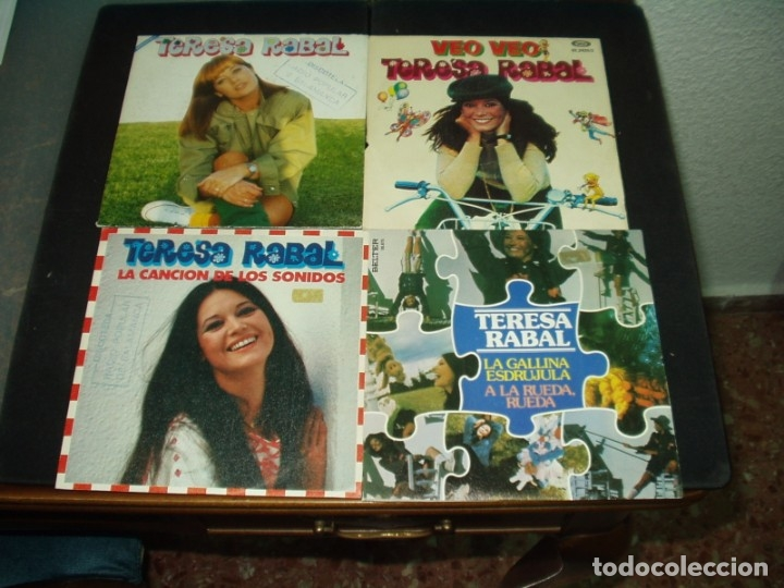 LOTE 4 SINGLES TERESA RABAL (Música - Discos - Singles Vinilo - Música Infantil)
