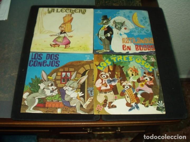 LOTE 9 SINGLES CUENTOS INFANTILES (Música - Discos de Vinilo - Maxi Singles - Música Infantil)