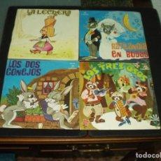Discos de vinilo: LOTE 9 SINGLES CUENTOS INFANTILES. Lote 181893540