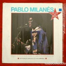Discos de vinilo: PABLO MILANES (LP. 1985) ED. VENEZUELA (MUY RARO) VIVO EN BRASIL - SU 1º ALBUM EN VIVO RIO JANEIRO. Lote 181901792