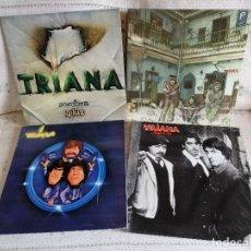 Discos de vinilo: LOTE 4 LPS. DE TRIANA. ORIGINALES 1ª EDICION 2 GATEFOUL, CON SUS ENCARTES EN EXCELENTE ESTADO VER *. Lote 181929098