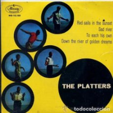Discos de vinilo: RED SAILS IN THE SUNSET / SAD RIVER / TO EACH HIS OWN / DOWN THE RIVER OF GOLDEN DREAMS - THE PLATTE. Lote 181334181