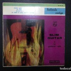 Discos de vinilo: SLIM GUITAR Y SU GUITARRA, VINILO SINGLES, FORTY MILES OF BAD ROAD, ETC. Lote 181945775