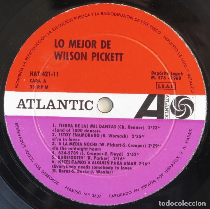 Discos de vinilo: WILSON PICKET. Lo mejor. LP Motown 1968 edición española - Foto 3 - 181946930