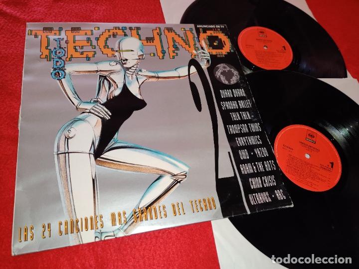 TODO TECHNO II VOL 2LP 1993 CBS SPAIN ESPAÑA RECOPILATORIO DURAN DURAN+SPANDAU BALLET+TALK TALK+ETC (Música - Discos - LP Vinilo - Disco y Dance)