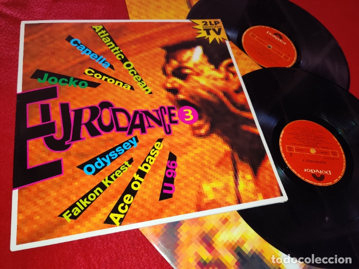 EURODANCE 3 2LP 1994 POLYDOR SPAIN ESPAÑA RECOPILATORIO CAPELLA+ATLANTIC OCEAN+CORONA+ETC (Música - Discos - LP Vinilo - Disco y Dance)
